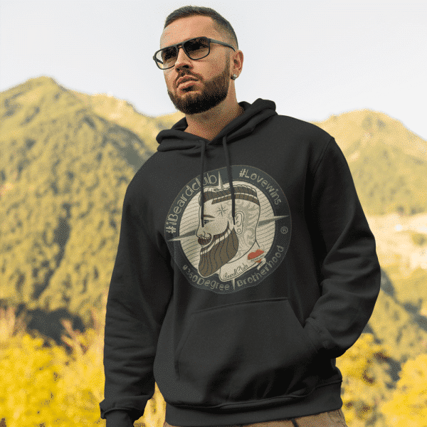 Hoodie Colour iBeardClub Colour Pull Over 1 Sided